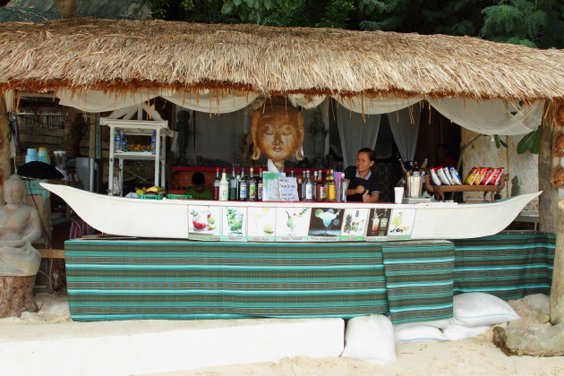 Beach Bar on Seven Commandos Beach near El Nido, Philippines