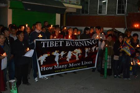Protest impotriva agresiunilor din partea guvernului chinez
