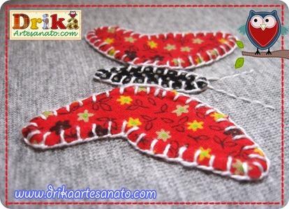 Gatinha com patch aplique detalhes borboleta