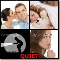QUIET- 4 Pics 1 Word Answers 3 Letters