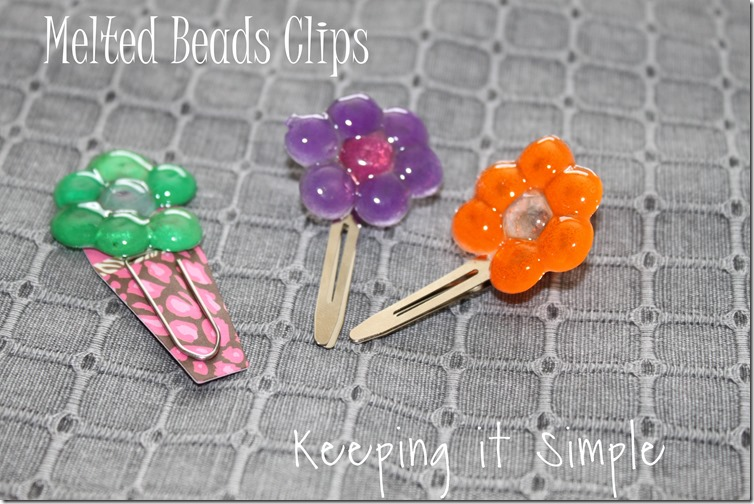 melted beads clips