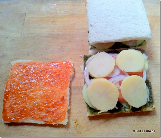 Vegetable Sandwich Recipe2