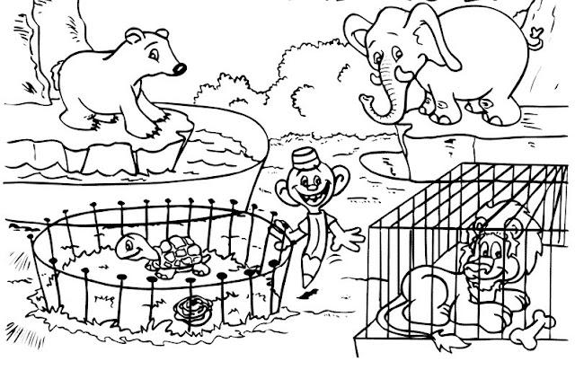 Colorear Zoologico