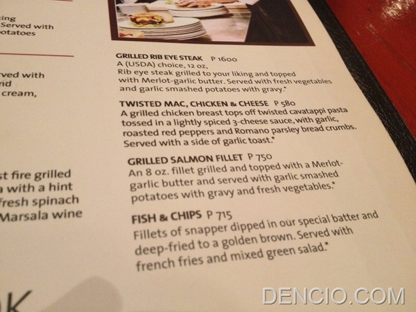 Hard Rock Cafe Makati Menu Prices 10