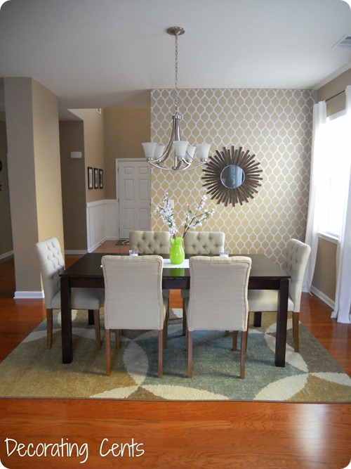 stenciled wall dining room