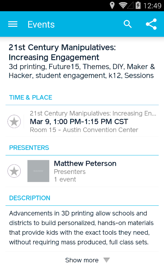 SXSWedu – Official 2015 - screenshot