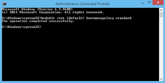 Cách truy cập vào Safe Mode bằng phím F8 trên Windows 8, 8.1