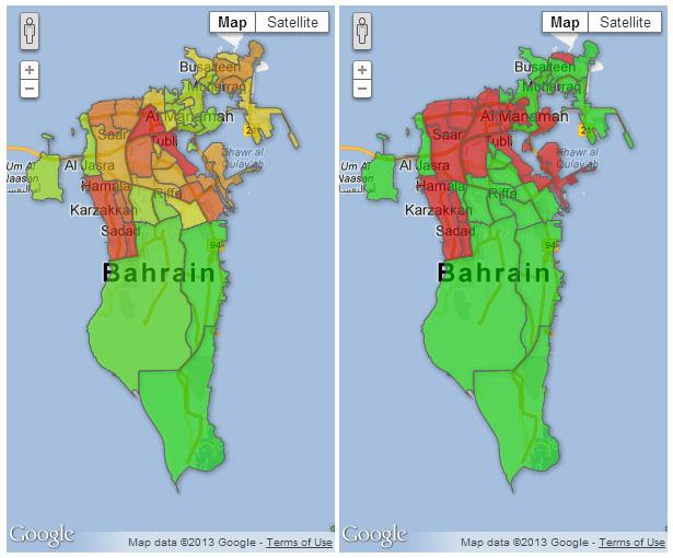 Religion And Politics In Bahrain Visualizing Bahrain - Bahrain interactive map