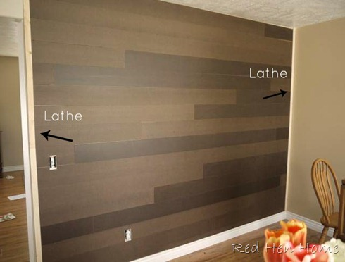 faux plank planked wall