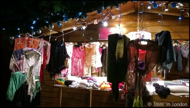 Southbank Christmas Market clothing