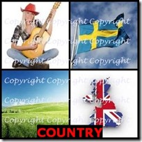 COUNTRY- 4 Pics 1 Word Answers 3 Letters