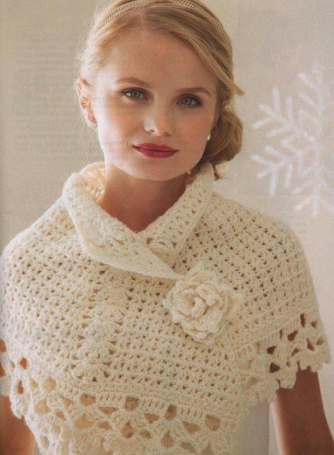 lo spazio di lilla: Romantico coprispalle crochet con ...