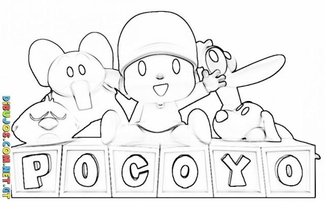 Colorear Pocoyo