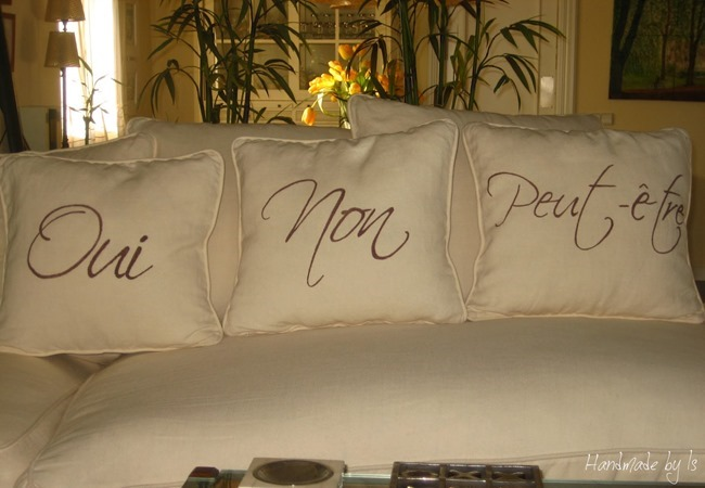 Letters cushions