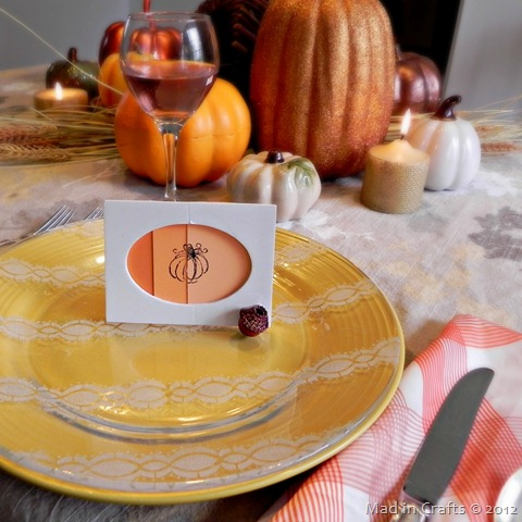 easy thanksgiving placecards