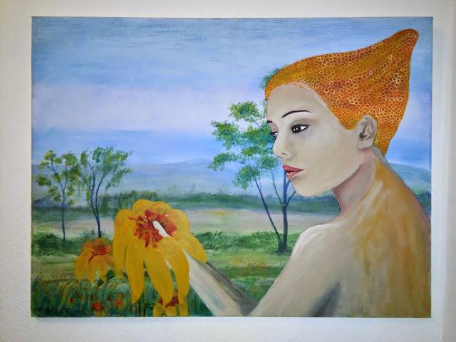 Apicultora con flores by DOUGLAS CHADIZ