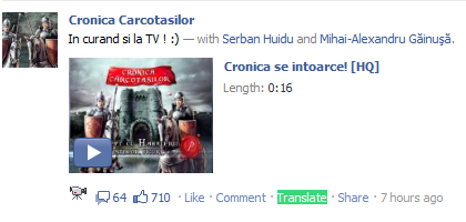 Facebook new translate link
