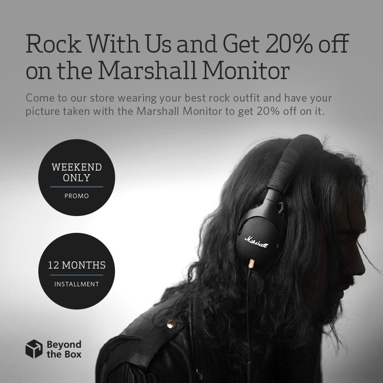 beyond the box june sale discount cookoo aq marshall monitor