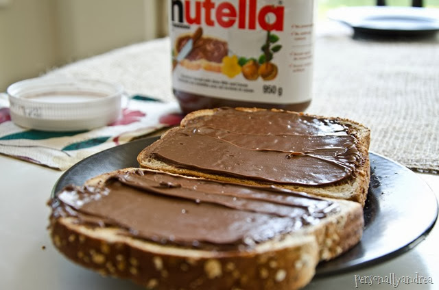 Toaster Tidy-Up | Nutella on toast | personallyandrea.com
