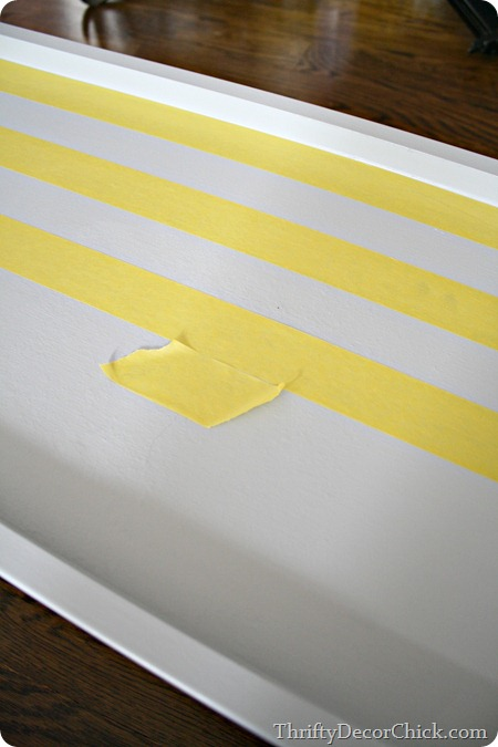 painting stripes on tray