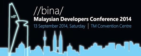 Exhibitor @ //bina/ Malaysian Developers Conference 2014
