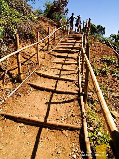 Dirt Steps at Pangasinan's Bolinao Falls 2