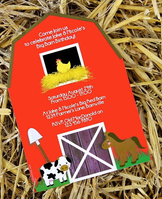 Barnyard Birthday - Invites