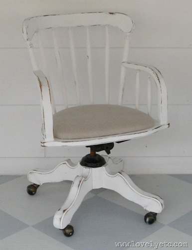 distressed banker's chair
