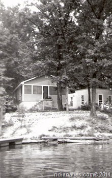 Prince's Lake cabin in early years.