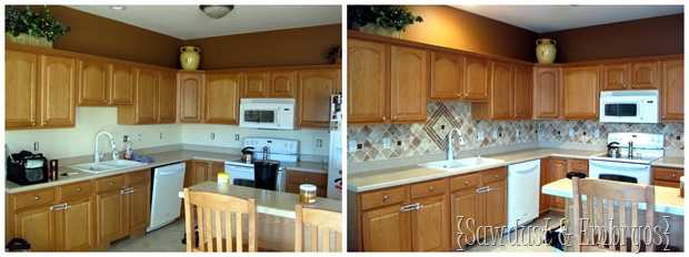 PAINT your Backsplash! {Sawdust and Embryos} | All Things Thrifty