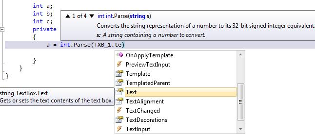 int.parse i textbox.text