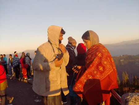 obiective turistice India: rasarit la Tiger's Hill Darjeeling