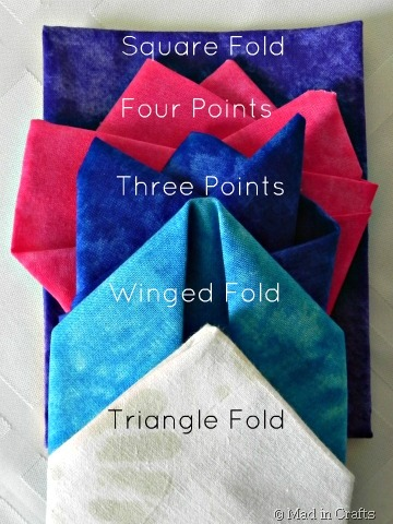 pocket square types