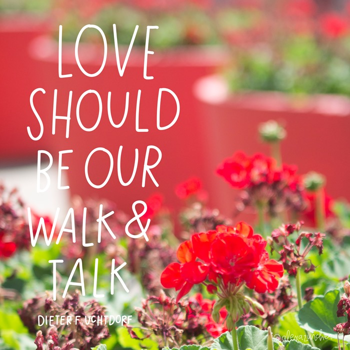 love should be our walk and talk