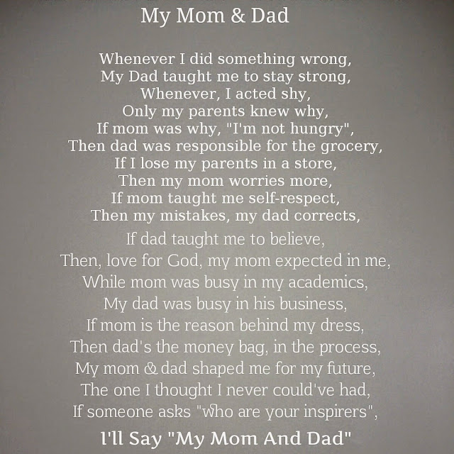 Collection of The Young Ahmed Poetry: My Mom & Dad