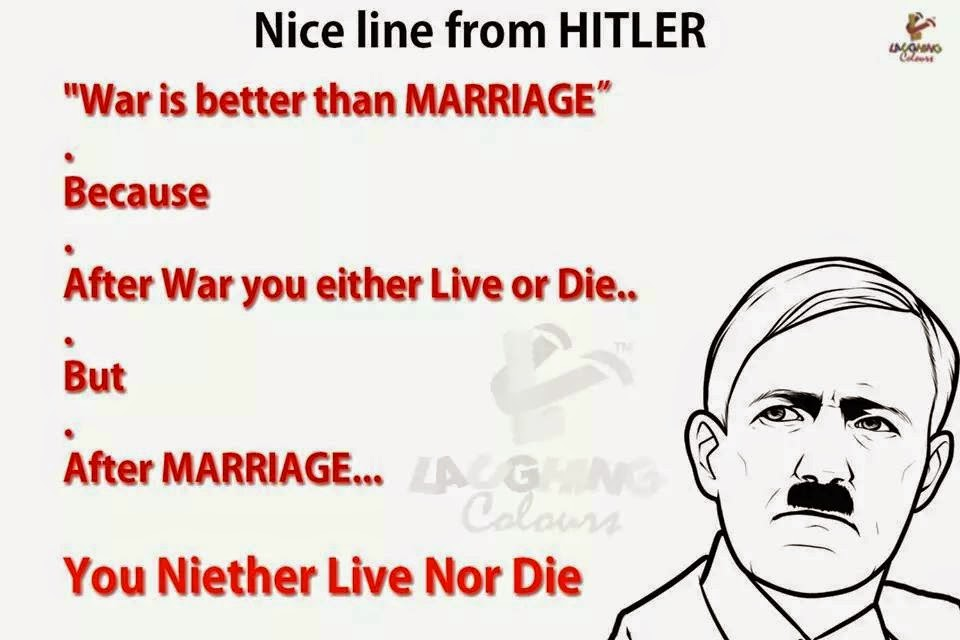 War Is Better Than Marriage Funny Photos Trolls Illusionsjokes