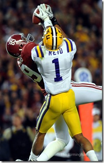 Williams reception Bama LSU Reid hand on ball