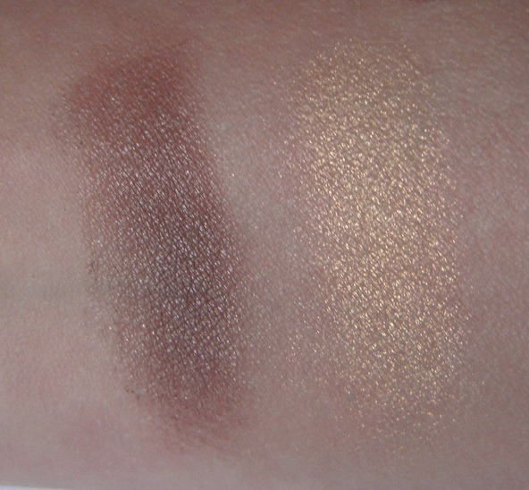 Ombretti mono Astra My Eyeshadow n. 12 Aurum e n. 15 Brunneae swatches foto