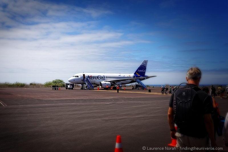 aerogal plane san cristobal Galapagos