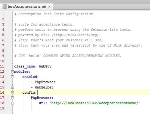 A Test Developer's blog: How to Configure Codeception?