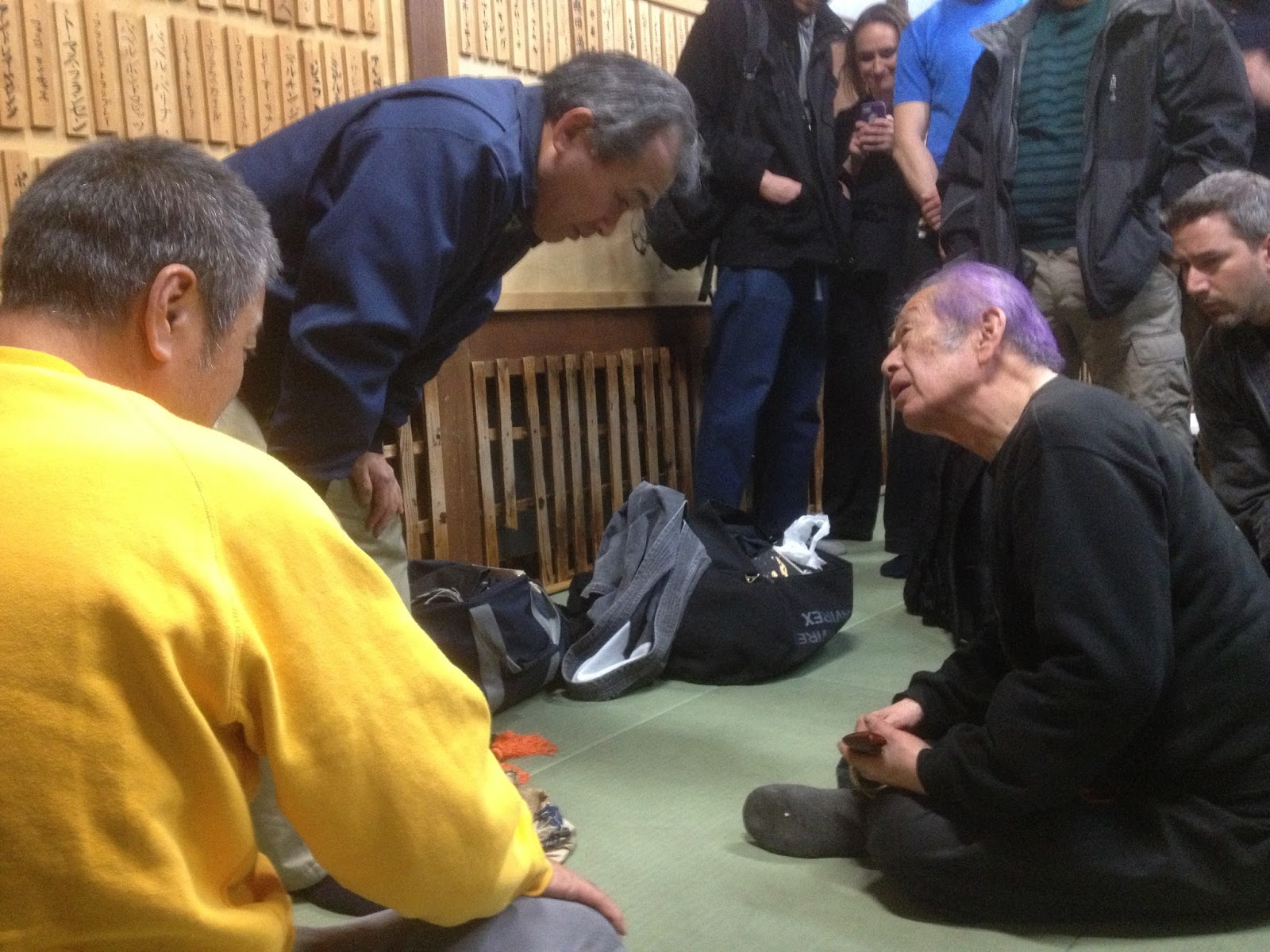 Hatsumi Sensei Sharing, photo by Michael Glenn