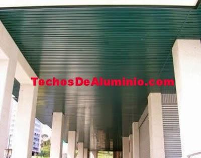 techos de aluminio verde oliva