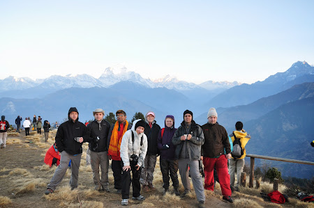 Trekking in Himalaya: Grupul la Annapurna