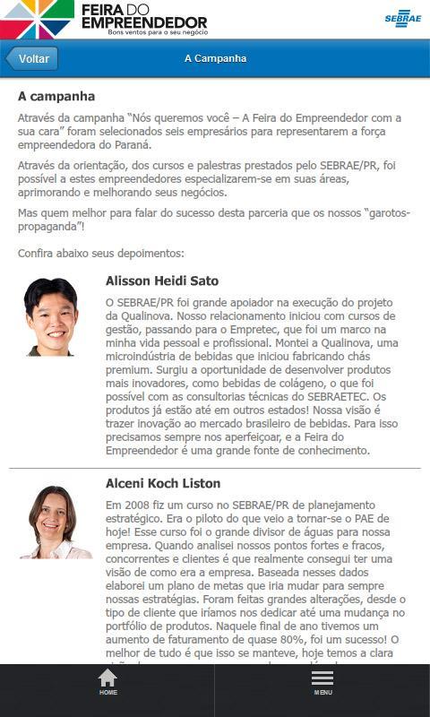 Feira 2013 SEBRAE PR - screenshot