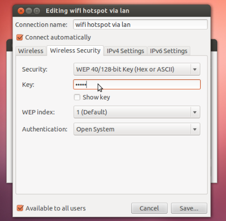 Set up Ubuntu Laptop as WiFi Hotspot