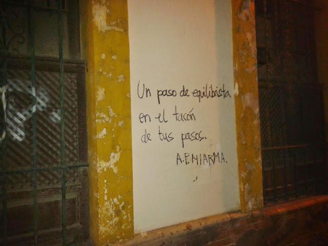 acción, poética, miarma, sevilla, frase, paredes, pintadas, graffiti,