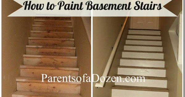 How To Refinish Basement Stairs, Easiest Way To Paint Basement Stairwell