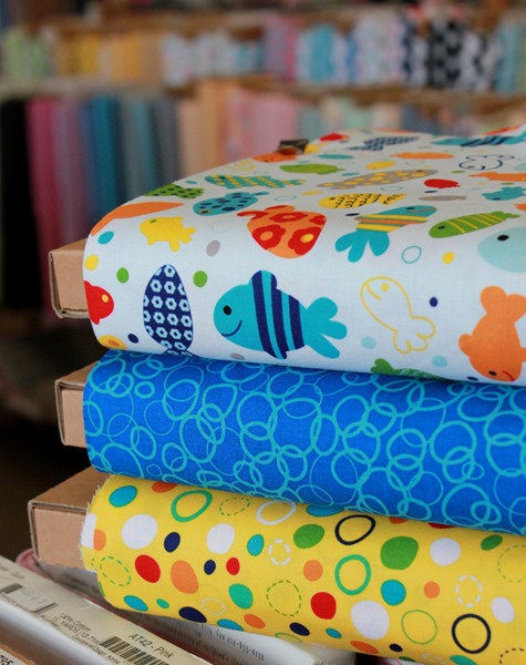 In the Ocean fabrics from Riley Blake found at The Fabric Mill