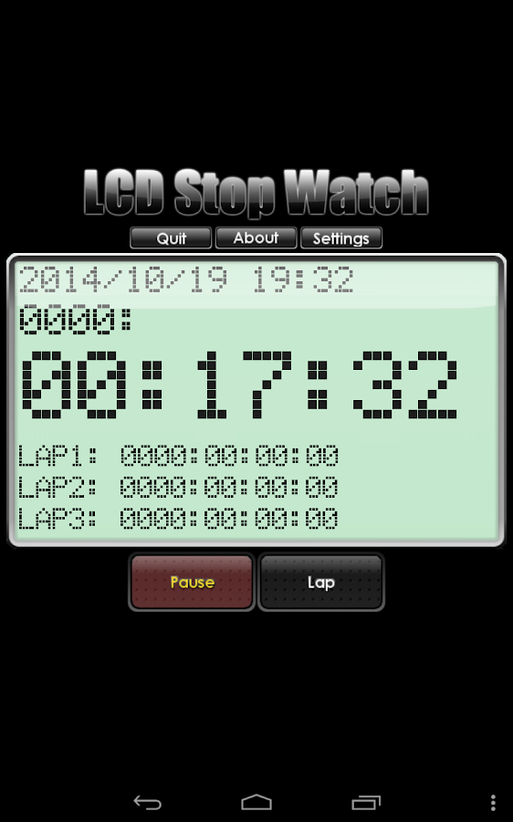LCD Stop Watch(FREE)- screenshot