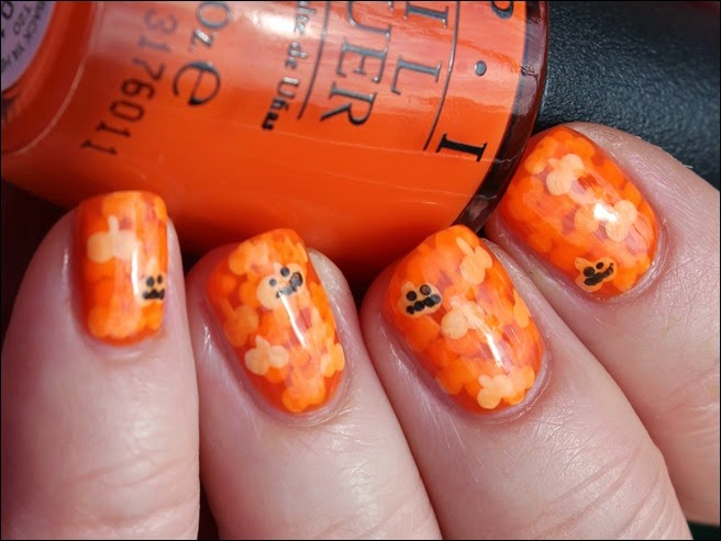 Halloween Pumpkin Kürbis Nail Art Nageldesign 00